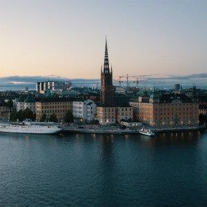 The Stockholm city skyline