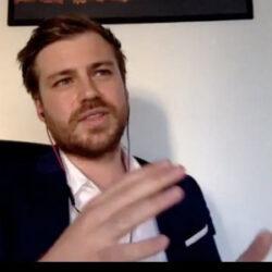 Dr Markus Skribek speaking at an Alumni GetToGather
