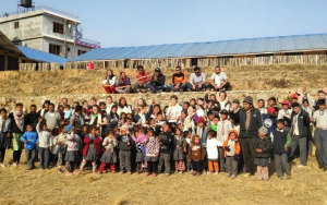 Children benefiting from The Nepal Project