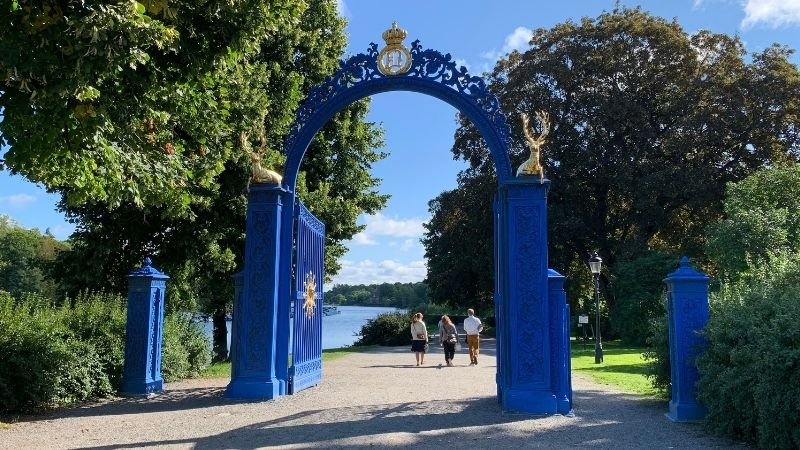 Blue gates by the Djurgårds bridge