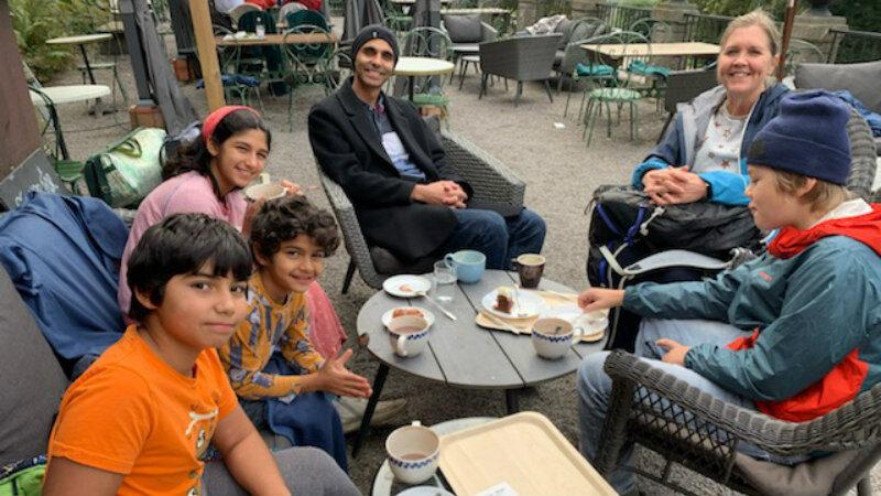 SPC families enjoying fika